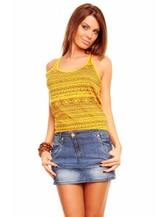Top tirantes Fresh Made étnico | dark yellow