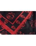 Mcqueen bufanda unisex cashmere estampada |black red