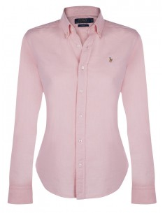 Camisa oxford small pony woman blue