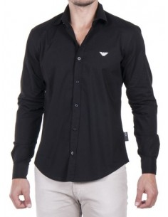 Camisa Armani entallada negra