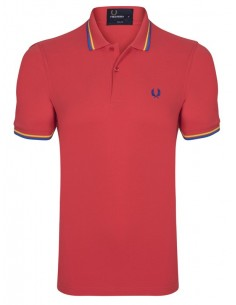 Polo básico hombre Fred Perry slim fit - Grey/Bordeaux