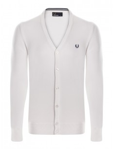 Cardigan Fred Perry heritage para hombre - crudo