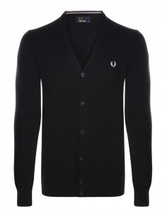 Cardigan Fred Perry heritage para hombre - negro