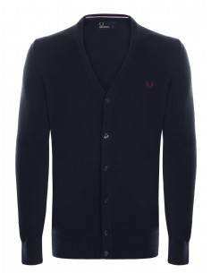 Cardigan Fred Perry heritage para hombre - dark carbon