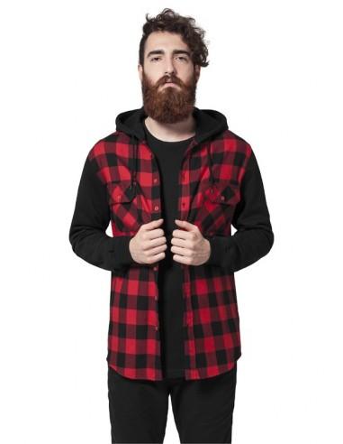 Urban Classics camisa de franela con capucha