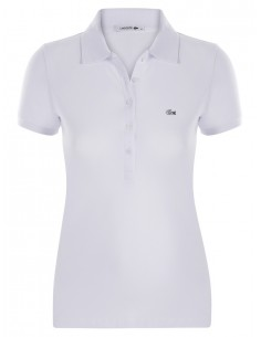 Polo lacoste mujer - black