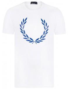 Fred Perry camiseta cuello V - azul melange
