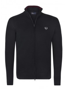 Cardigan cremallera Fred Perry black