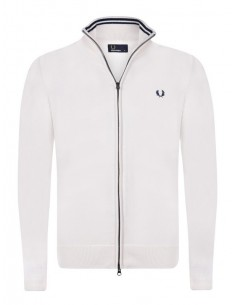 Cardigan cremallera Fred Perry crudo