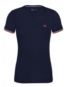 Camiseta Fred Perry woman en algodón piqué - azul