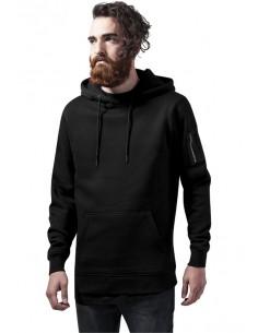 Urban Classics sudadera bomber con capucha - negra