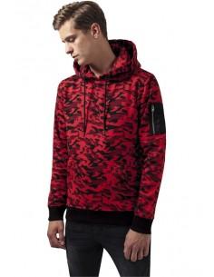 Urban Classics felpa con capucha - red camo
