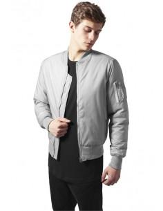 Chaqueta Bomber basic de Urban Classics - gris plata