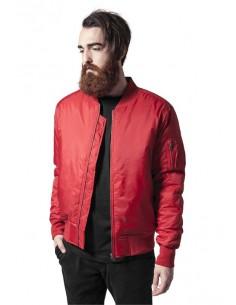 Chaqueta Bomber basic de Urban Classics - rojo fuego