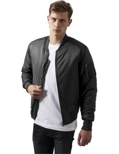 Chaqueta Bomber basic de Urban Classics - cool grey