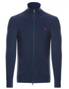 Jersey cardigan Polo - indigo