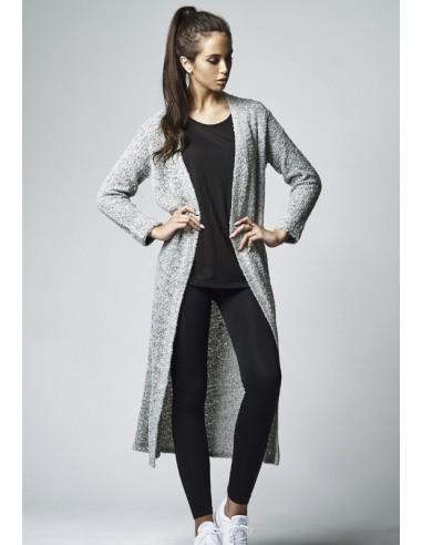 Urban Classics cardigan de mujer bouclé - gris
