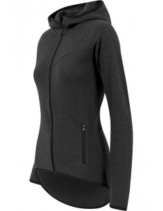 Urban Classics Sudadera woman athletic - charcoal