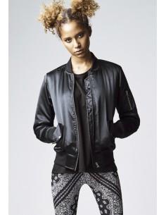 Chaqueta bomber satin de Urban Classics para mujer - black
