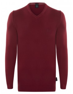 Hugo Boss jersey cuello pico antracita