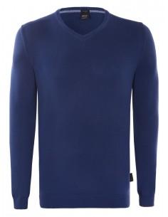 Hugo Boss jersey cuello pico azul
