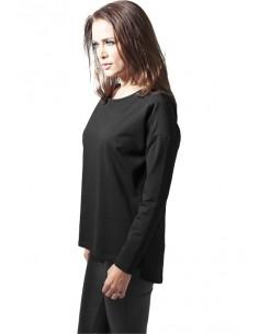Urban Classics jersey OVERSIZE mujer chiflón - negro