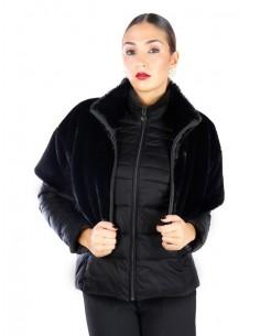 Fontana 2.0 Plumón + chaqueta piel GINEVRA - negro