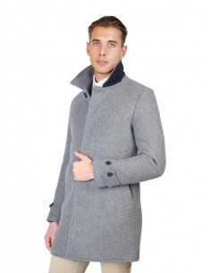 Abrigo Oxford university - modern grey