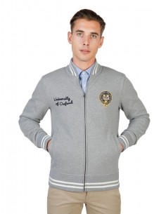 Chaqueta sudadera Oxford univeristy teddy - grey