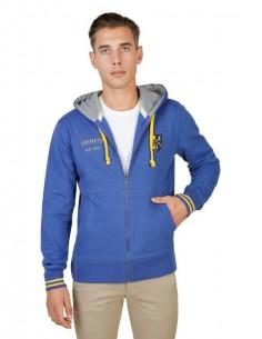 Chaqueta sudadera Oxford university con capucha - azul