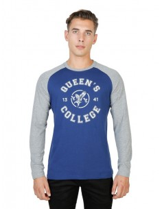Camiseta Oxford university Queens Raglan - gris