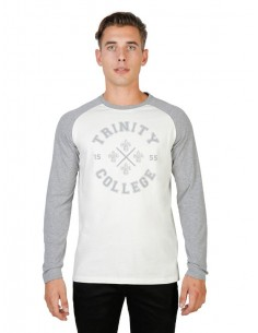 Camiseta Oxford university Queens Raglan - blanca
