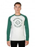 Camiseta Oxford university magdalen Raglan - green