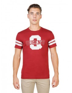 Camiseta Oxford university Queens - stripped Roja