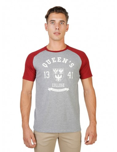 Camiseta Oxford university reglan - grey red