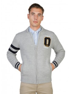 Cardigan Oxford university Teddy - gris