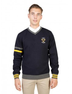 Jersey Oxford university de cuello pico - navy