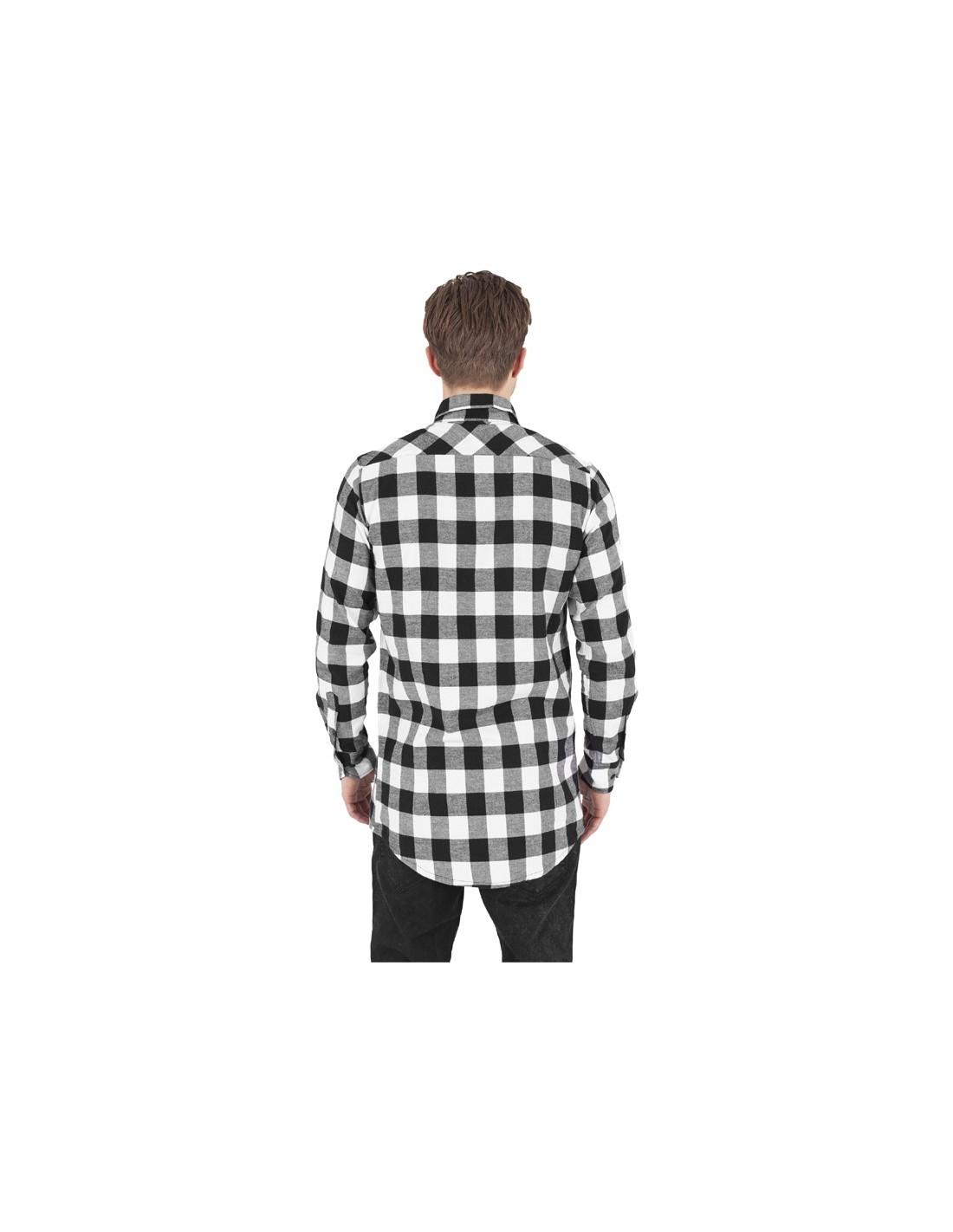 84e1225372 ... Urban Classics camisa larga de cuadros - blanco negro