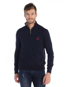 Jersey Sir Raymond Tailor half zip - navy