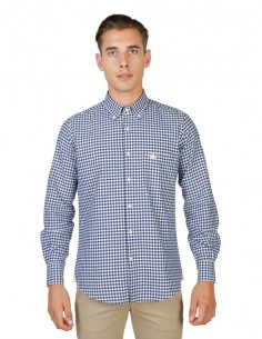 Camisa Oxford University - plaid navy