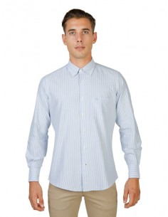 Camisa Oxford University - plaid azul claro