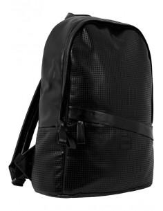 Mochila Urban Classics piel sintética perforada - black