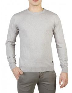 Trussardi jersey cuello redondo premium - gris