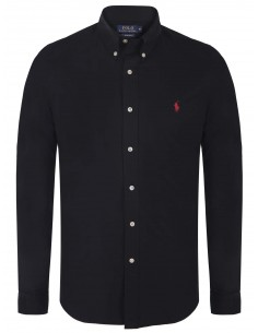 Camisa Polo de hombre regular fit - black/red