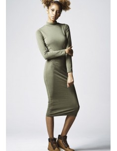 Urban Classics vestido para mujer - verde