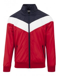 Chaqueta arrow Urban Classics - red navy