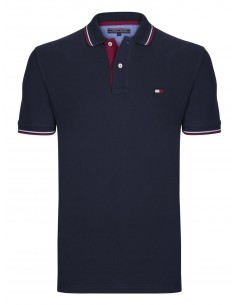 Polo Tommy ribeteado - navy