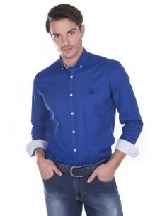 Giorgio di mare camisa contrastes - azul royal