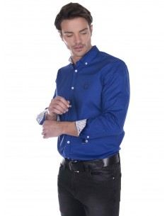 Camisa Sir Raymond Tailor contrastes - royal