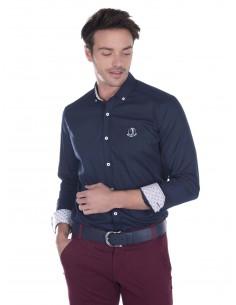 Camisa Sir Raymond Tailor contrastes - marino